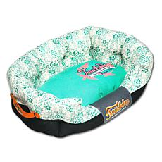 Touchdog Floral-Galore Rectangular Rounded Designer Dog Bed - Large