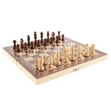 Toy Time Chess Set with Folding Wooden Game Board