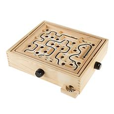 Toy Time Classic Wood Tabletop Labyrinth Maze Game