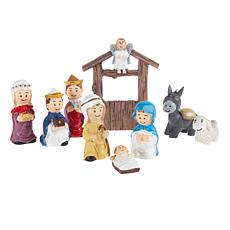 Toy Time Hand Painted Nativity Kids Playset