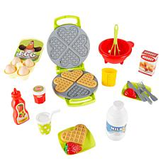 Toy Time Kids Toy Waffle Iron Set with Music and Lights