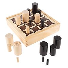 Toy Time Wooden Tabletop 3D Tic Tac Toe Game Set