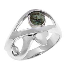 "Traveler's Journey Feldspar ""Egyptian Eye"" Ring"