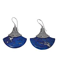 "Traveler's Journey Lapis ""Papyrus"" Drop Earrings"