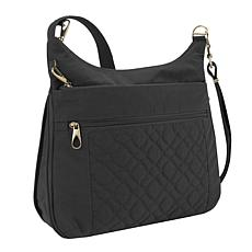 "Travelon Anti-Theft Signature 3-Compartment Crossbody Bag 12"" x 12"""