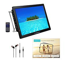 """Trexonic 14"""" Ultra Lightweight Portable LED TV with Antenna & Sleeve"""