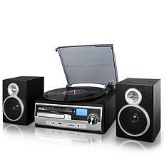 Trexonic 7-in-1 3-Speed Turntable Home Stereo System w/ Recording