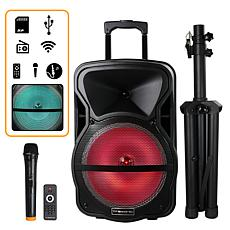 Trexonic Combination 12 Inch Bluetooth Portable Speaker and Tripod ...