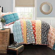 Triangle Home Fashions Bohemian Striped Quilt 3-Piece Set - Full/Queen