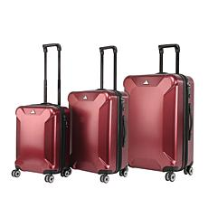 Triforce Oxford 3pc Polycarbonate Spinner Luggage