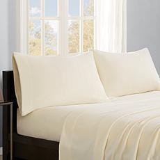 True North by Sleep Philosophy Micro Fleece Sheet Set - Ivory - Queen