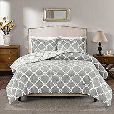 True North Peyton Reversible Gray Comforter Set - King
