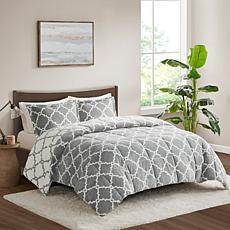 True North Peyton Reversible Gray Comforter Set - King