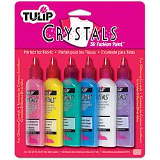 Tulip Dimensional Fabric Paints 1.25oz 6/Pkg - Crystals