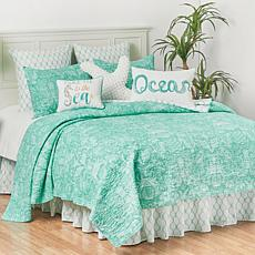 Turquoise Bay Twin Quilt Set