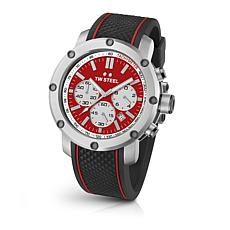 TW Steel Men's Grandeur Tech TS1 Silicone Strap Chronograph Watch