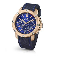 TW Steel Men's Grandeur Tech TS3 Silicone Strap Chronograph Watch