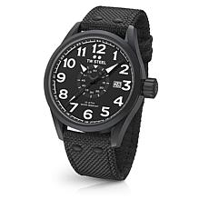 TW Steel Volante Men's 45mm Black Dial Black Nylon Strap Watch