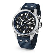 TW Steel Volante Men's 45mm Chronograph Dark Blue Nylon Strap Watch