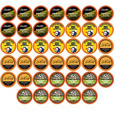 Two Rivers Coffee 40ct Light Roast Coffee Pods Sampler