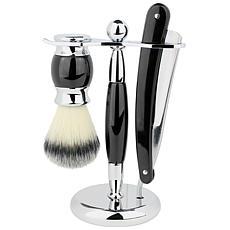 Union Razor 3 Piece Straight Shave Kit - Black
