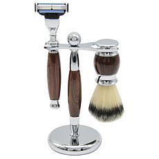 Union Razor Three Piece Shave Kit - Wood