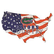 University of Florida USA Shape Flag Cutout