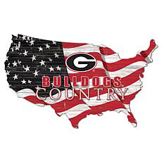 University of Georgia USA Shape Flag Cutout