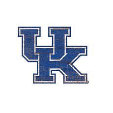 University of Kentucky Distressed Logo Cutout Sign