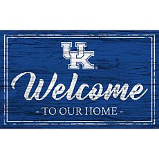 """University of Kentucky Team Color Welcome Sign - 11x19"""""""