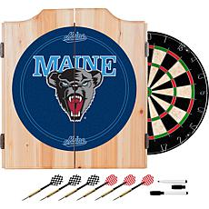 University of Maine Dart Cabinet with Darts and Board