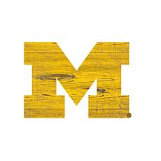 University of Michigan Distressed Logo Cutout Sign