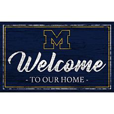 """University of Michigan Team Color Welcome Sign - 11x19"""""""