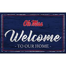"""University of Mississippi Team Color Welcome Sign - 11x19"""""""