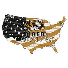 University of Missouri USA Shape Flag Cutout