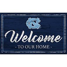 """University of North Carolina Team Color Welcome Sign - 11x19"""""""