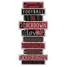 "University of Oklahoma Celebrations Stack 24"" Sign"