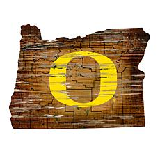 University of Oregon Distressed State with Logo