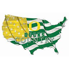 University of Oregon USA Shape Flag Cutout