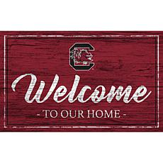 """University of South Carolina Team Color Welcome Sign - 11x19"""""""
