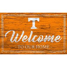 """University of Tennessee Team Color Welcome Sign - 11x19"""""""