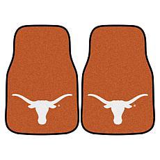 University of Texas Carpet Car Mat Set - 2 Pieces