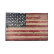 USA Flag 24x36 Print on Wood