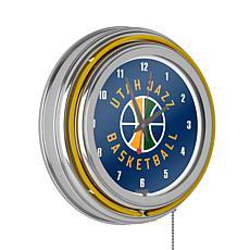 Utah Jazz Double Ring Neon Clock