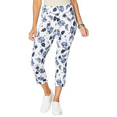Utopia by HUE Flawsome Dreamy Denim Capri Pant - Missy