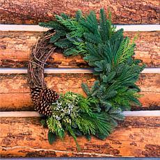 """Van Zyverden Fresh Cut 20"""" Pacific Northwest Grape Vine & Greens Wr..."""