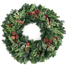 "Van Zyverden Fresh Cut 24"" Pacific Northwest Cinnamon Spice Wreath"