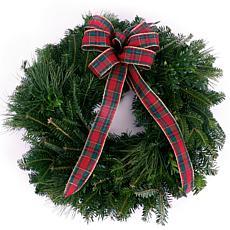 "Van Zyverden Fresh Cut Blue Ridge Mountain 16"" Mixed Wreath with Bow"