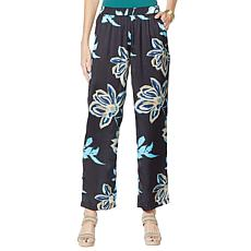 Vanessa Williams Printed Charmeuse Floral Pant