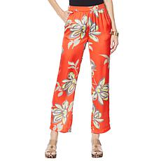 Vanessa Williams Printed Charmeuse Floral Pant